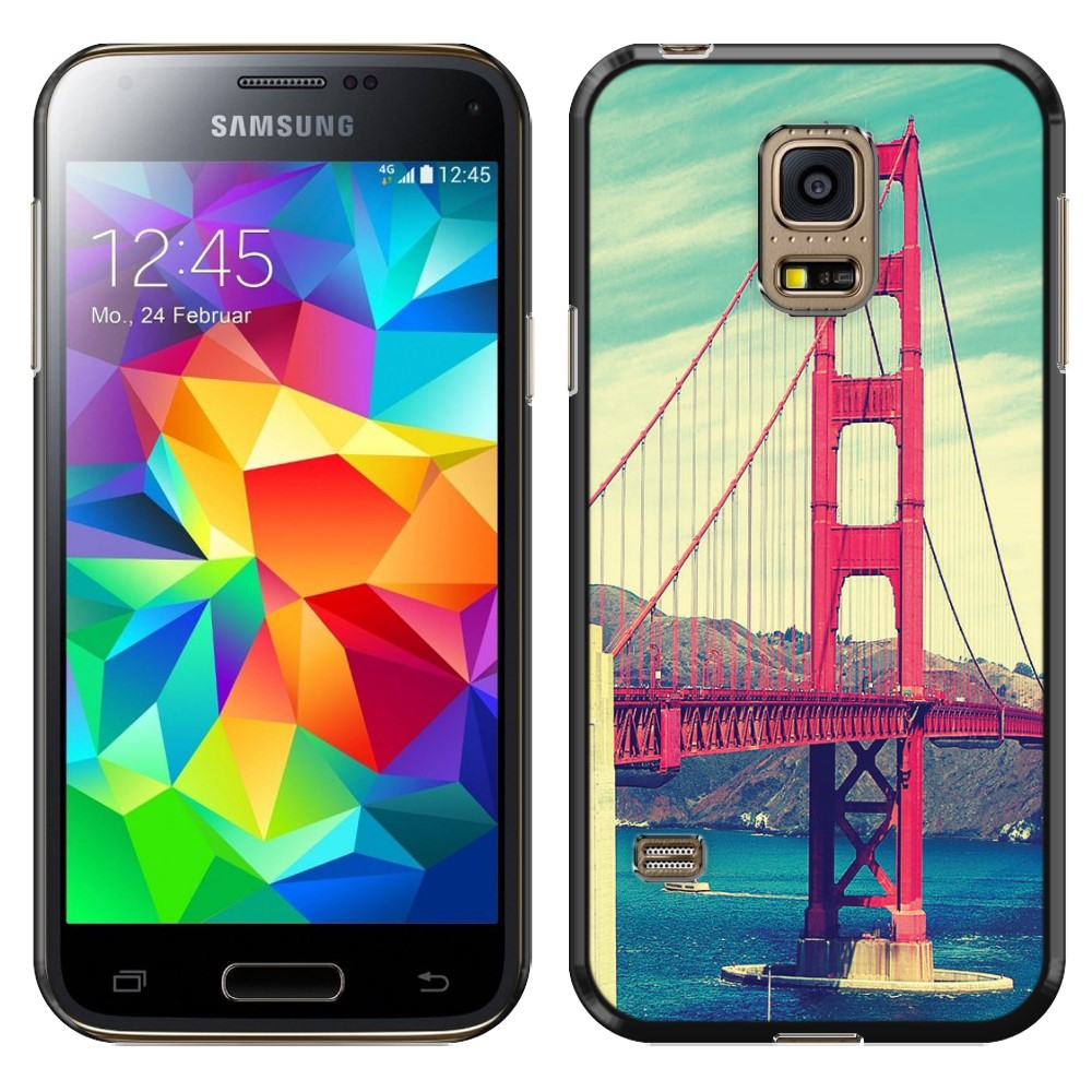 Samsung Galaxy S5 mini G800 Vintage Retro Golden Gate Bridge SLIM FIT Back Cover Case