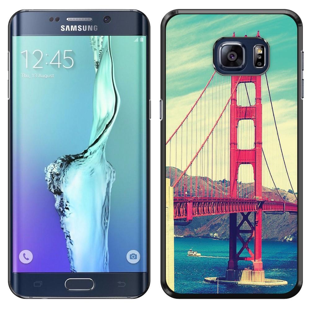Samsung Galaxy S6 Edge  Plus G928 Vintage Retro Golden Gate Bridge SLIM FIT Back Cover Case