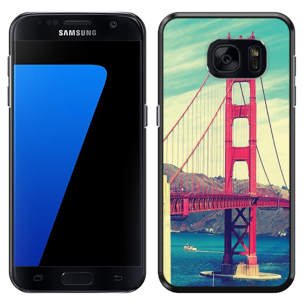 Samsung Galaxy S7 G930 Vintage Retro Golden Gate Bridge SLIM FIT Back Cover Case