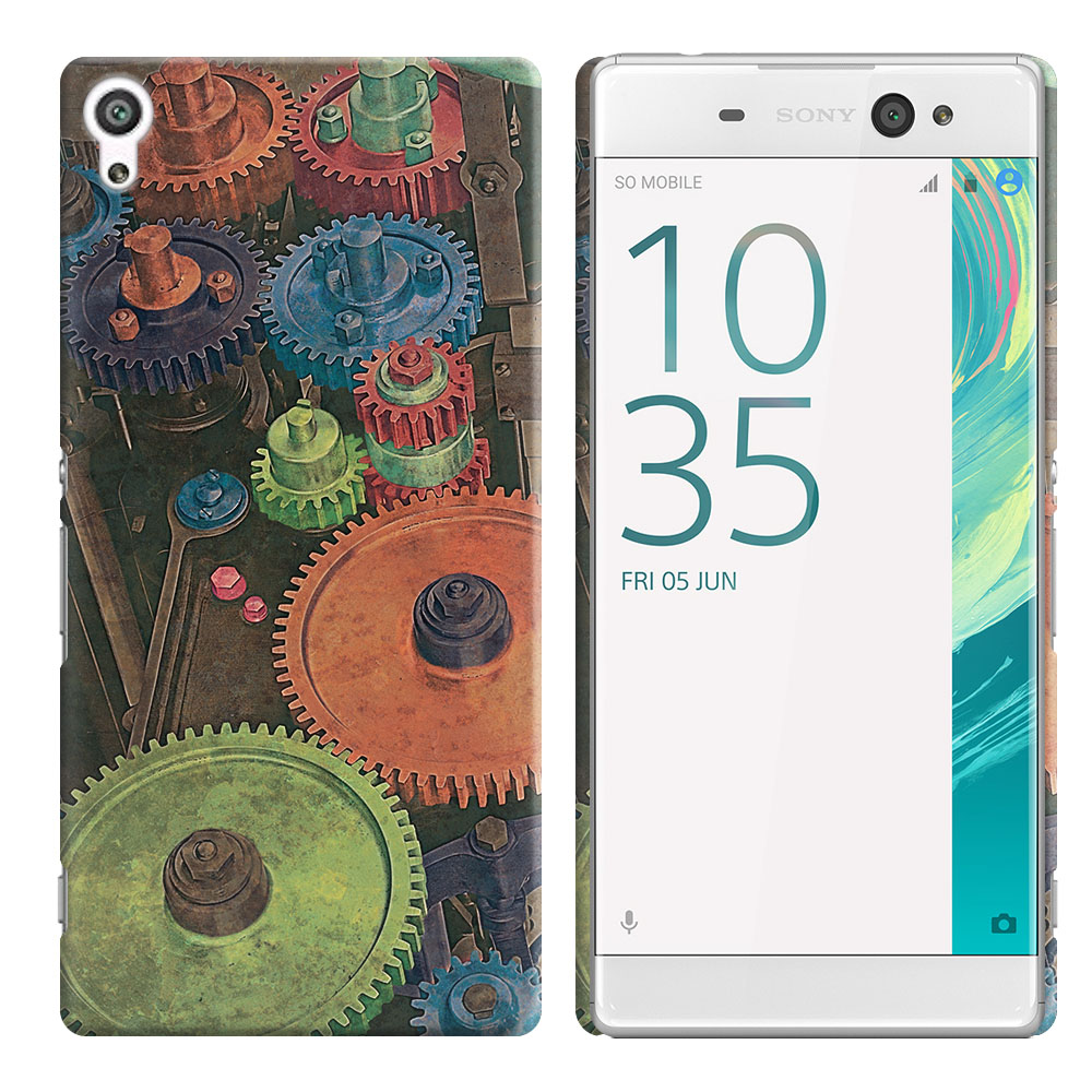 Sony Xperia XA Ultra 6 inch Vintage Colorful Gears Back Cover Case