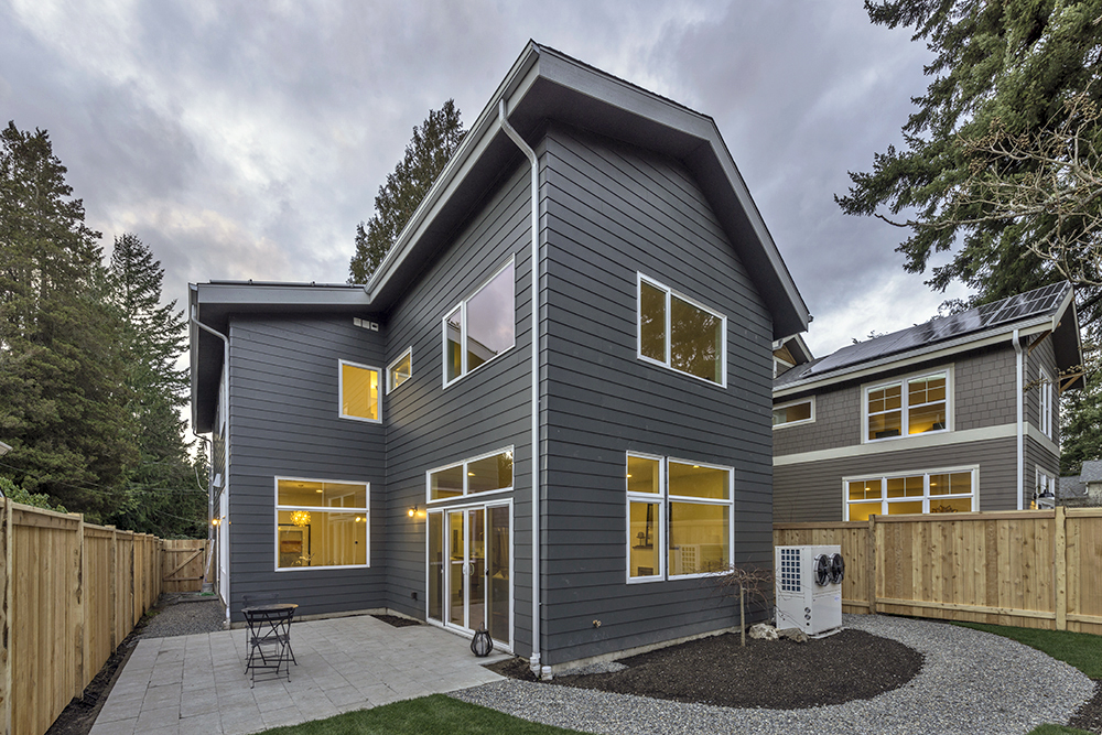 Two homes completed by TC Legend Homes last year in Seattle.