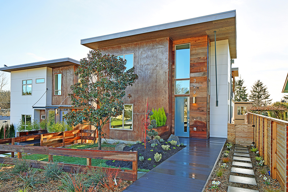 Two Built Green 5-Star homes in Kirkland by Dwell Development and CTL Design.