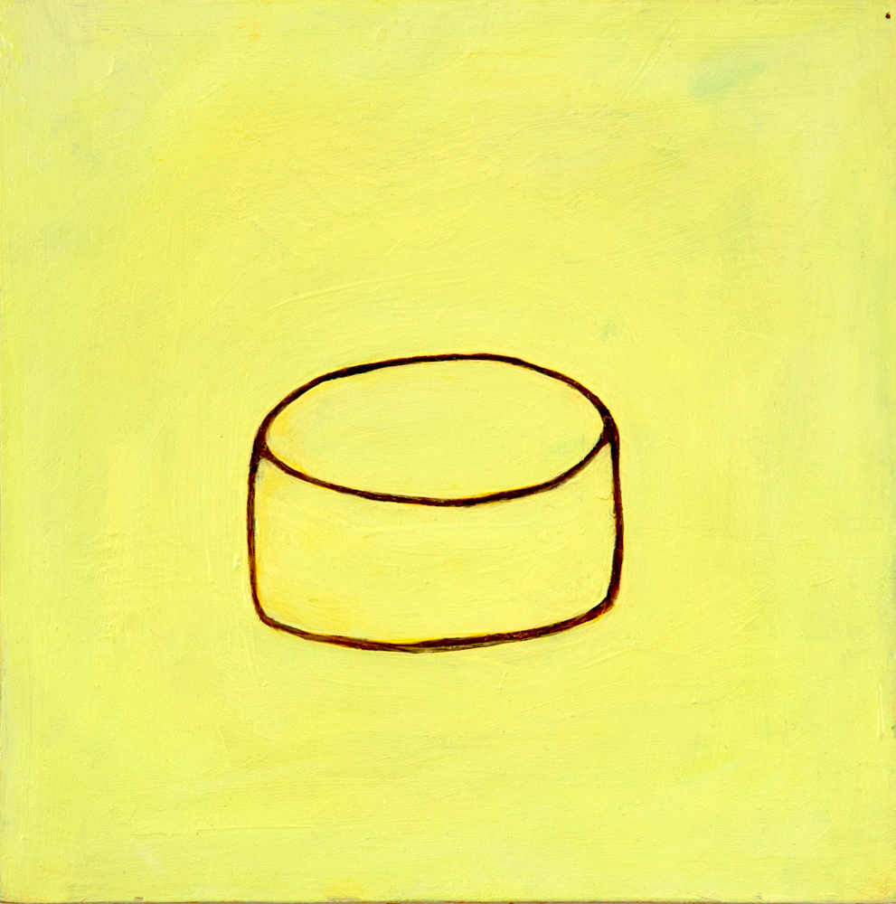 Yellow Field Karen Stead Baigrie 2013 8X8 Oil On Panel 200