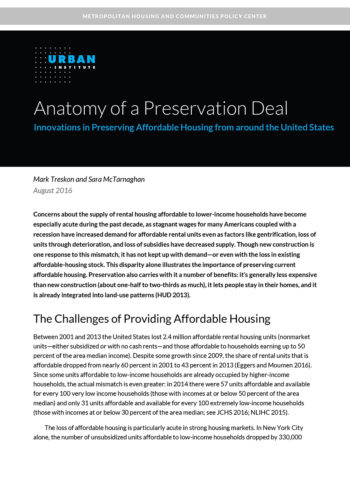 Anatomy Of A Preservation Deal