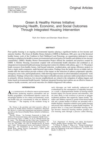 Environmental Justice Journal Article On Ghhi 2014