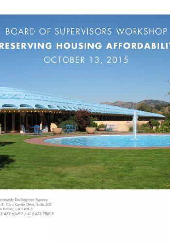 Preserving Housing Affordability