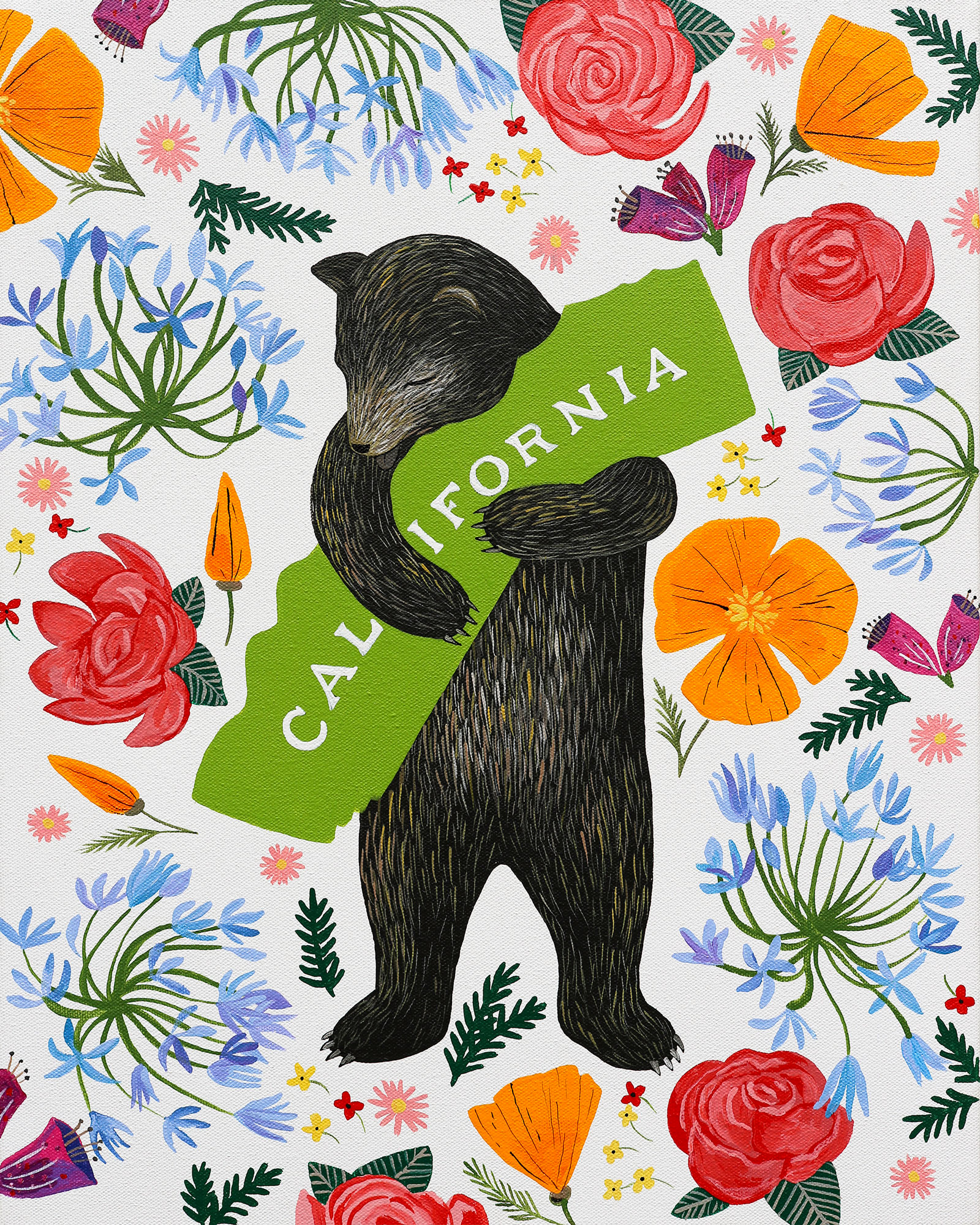 Sm Annie Galvin Botany Bear 40X32 Archival Print 2015