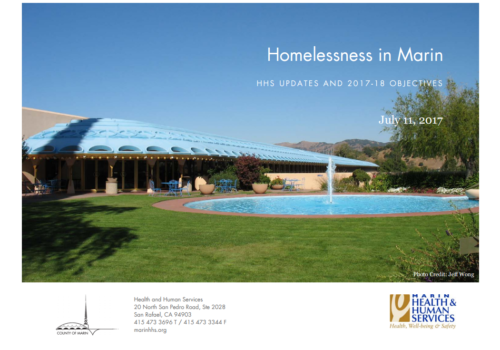 Homelessness In Marin Cover