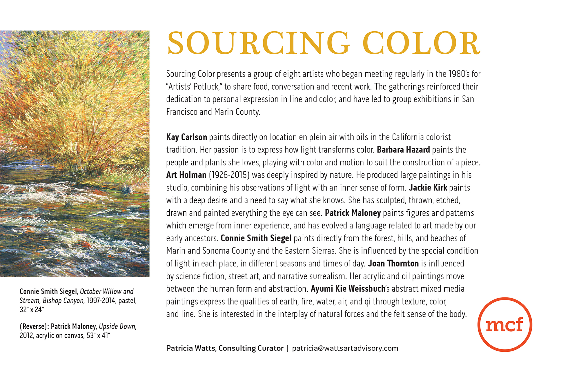Sourcing Color, Jan 25 to June 9, 2017