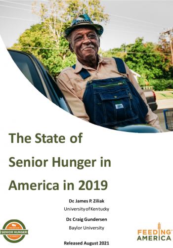 2021 State of Senior Hunger in 2019 1