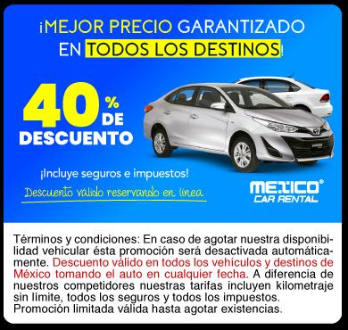 Promociones Renta de auto en México