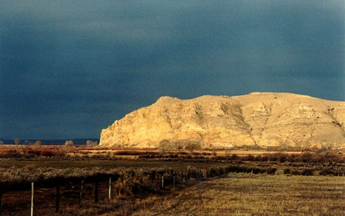 Beaverhead Rock looking to the west on the morning of 3.25.01.