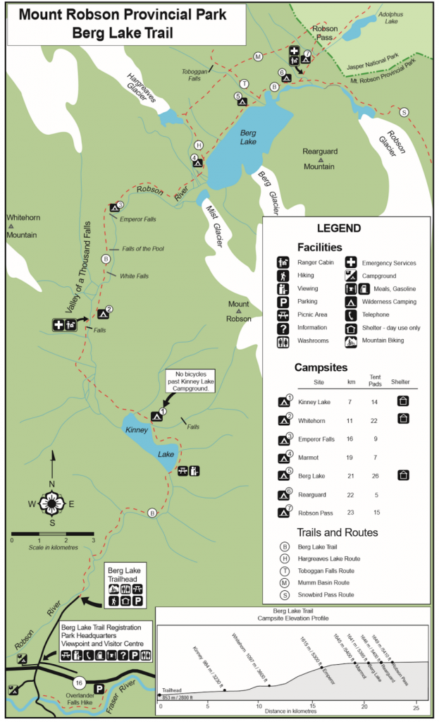 Berg Lake Campgrounds
