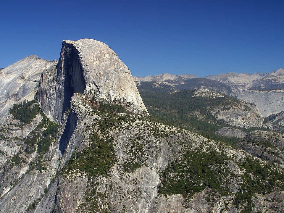 Half Dome Valley California Usa Yosemite Climb