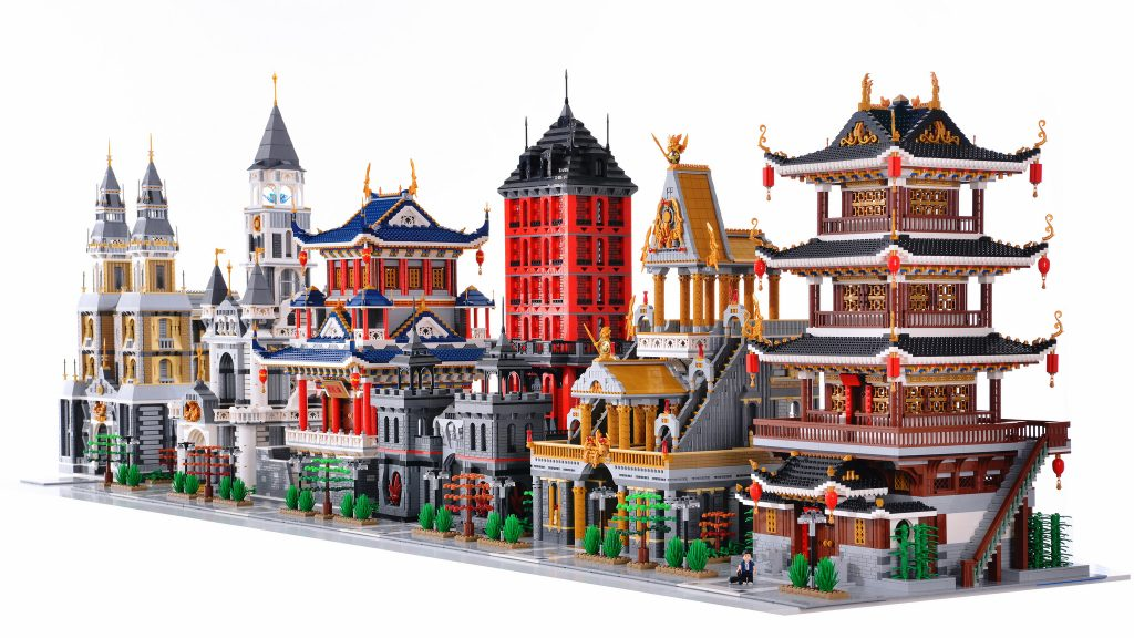 Take a stroll down a stunning brick-built street   The Brothers Brick