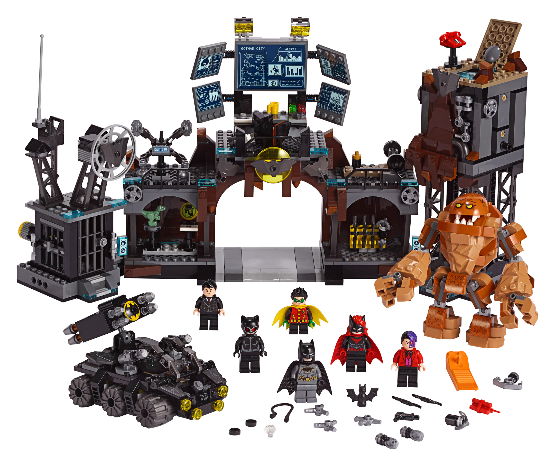 Batman Arkham Knight Batcave: LEGO Batman 80th Anniversary 76122 Batcave Clayface