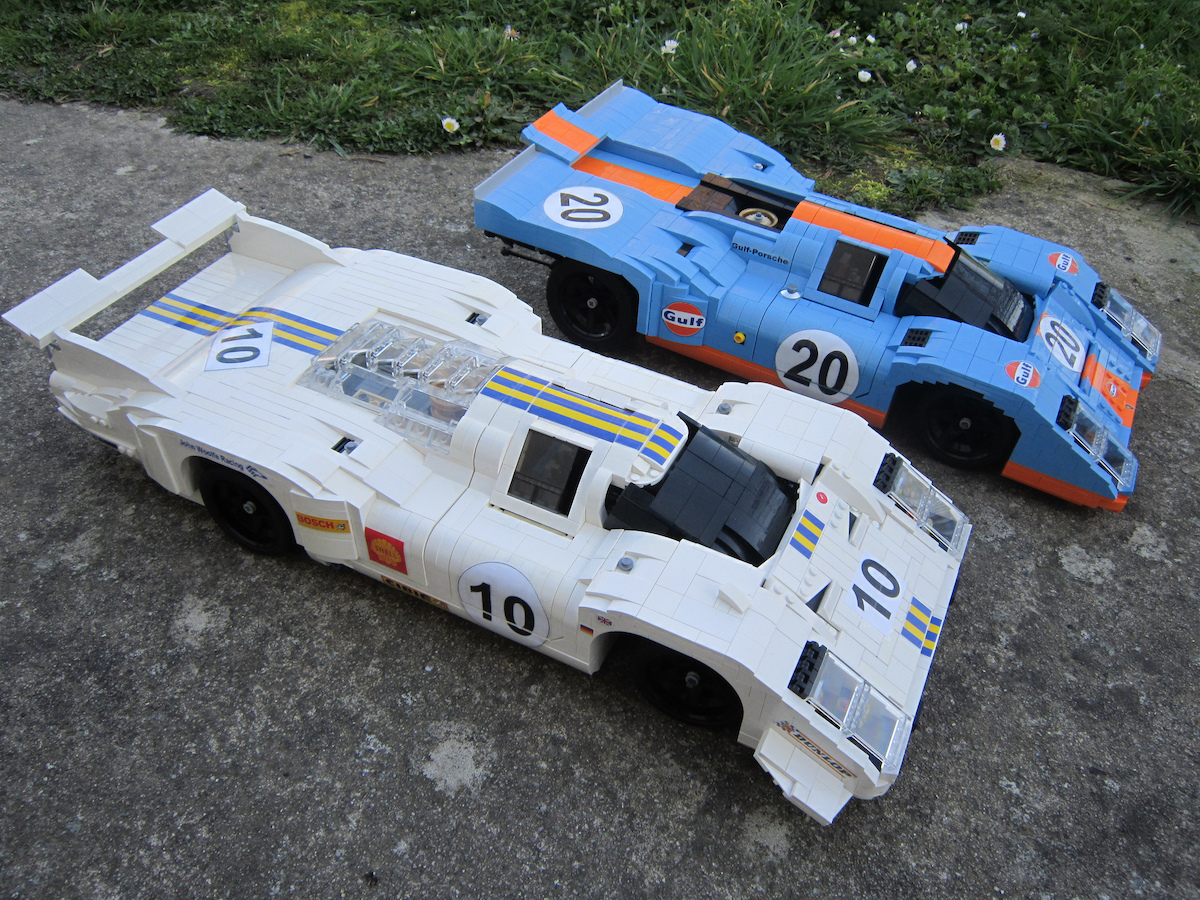 1 8 scale porsche 917 le mans racecars in lego the brothers brick the brothers brick. Black Bedroom Furniture Sets. Home Design Ideas