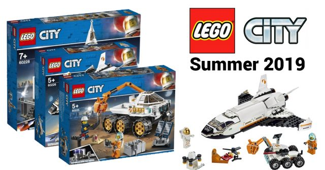 All 7 new LEGO City Space sets for summer 2019 are now available