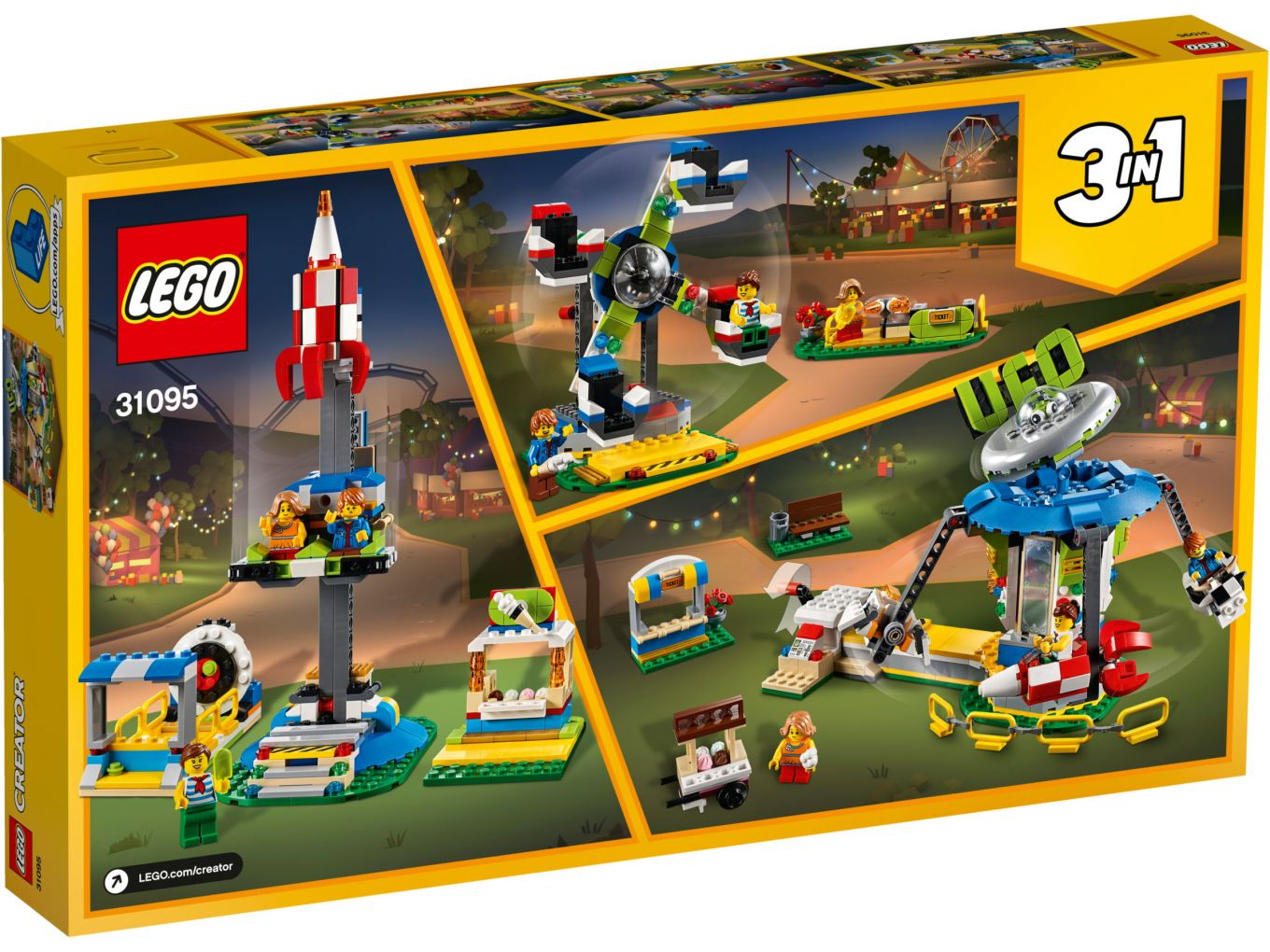 Lego Creator 31095 Carousel Box Back The Brothers Brick The