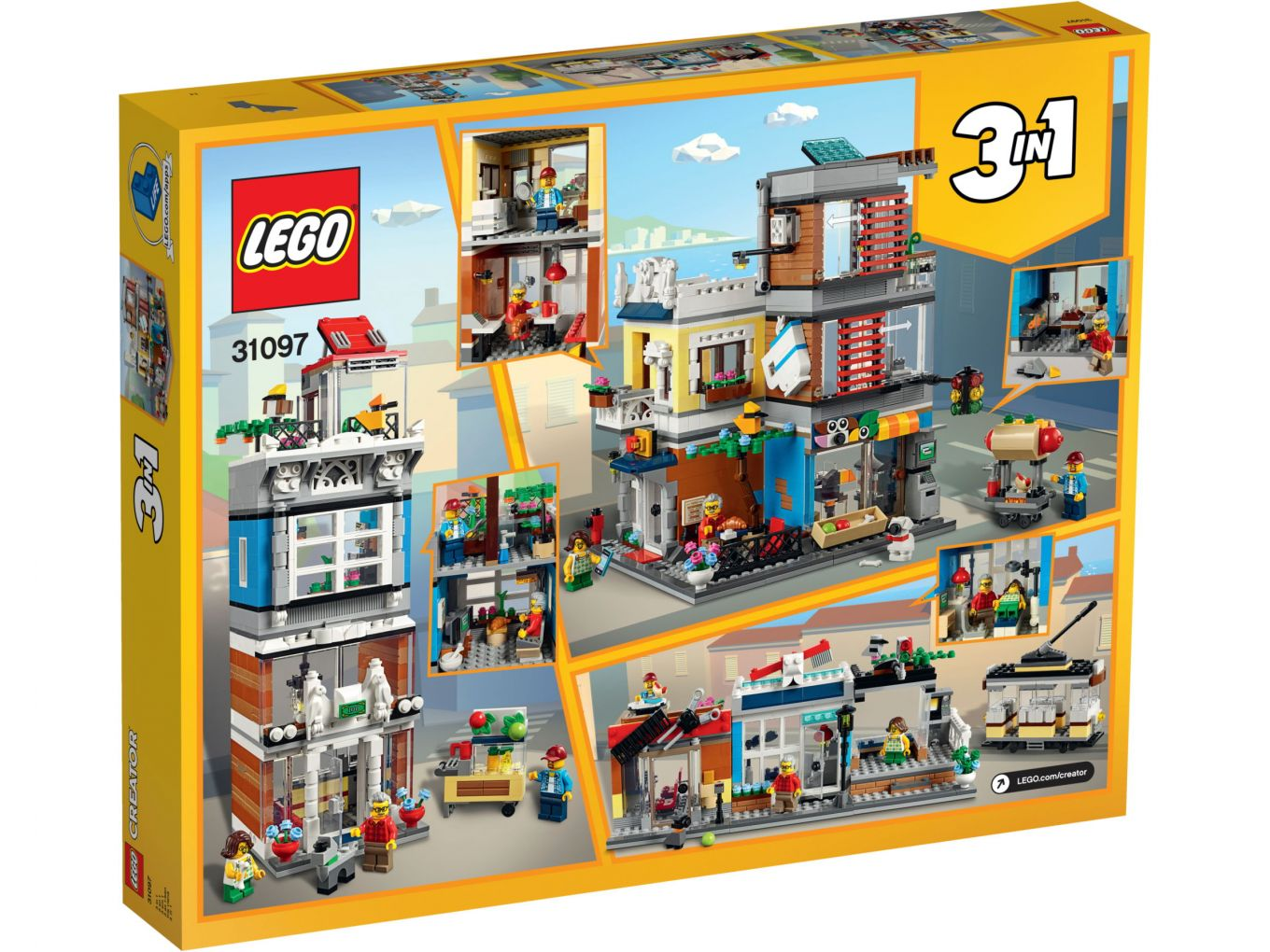 Lego Creator 31097 Townhouse And Pet Shop Box Back The