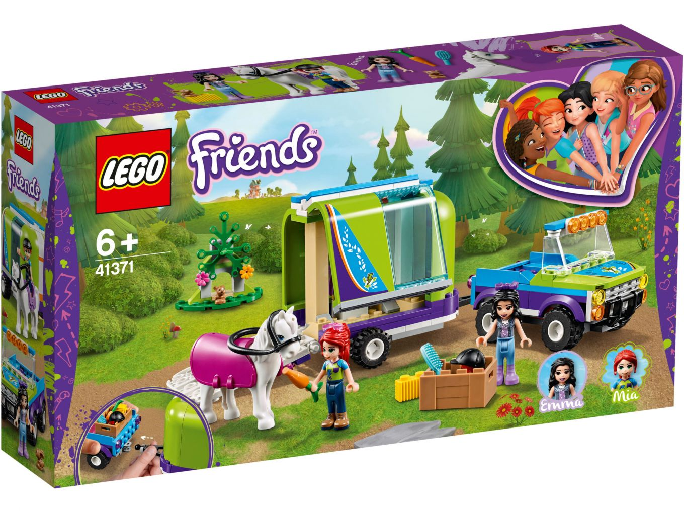 Lego Friends 41371 Mias Horse Trailer Box Front The Brothers