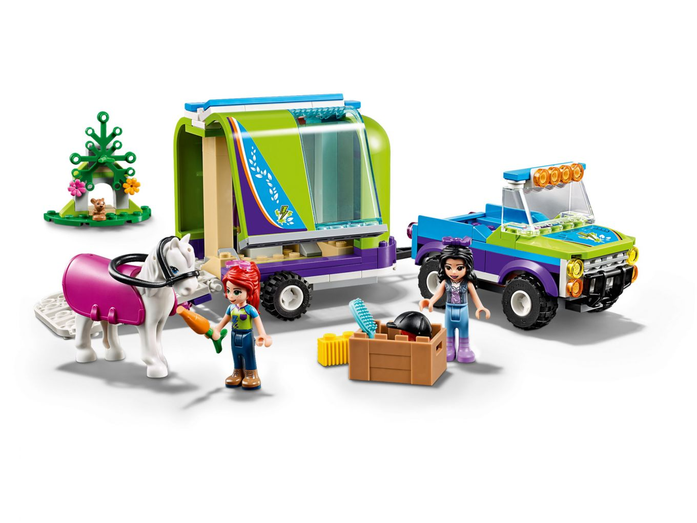 Lego Friends 41371 Mias Horse Trailer Set Front The Brothers