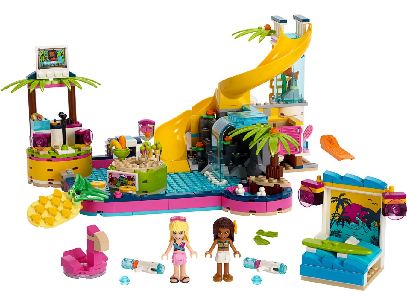 Lego Friends 41374 Andrea S Pool Party Complete Set