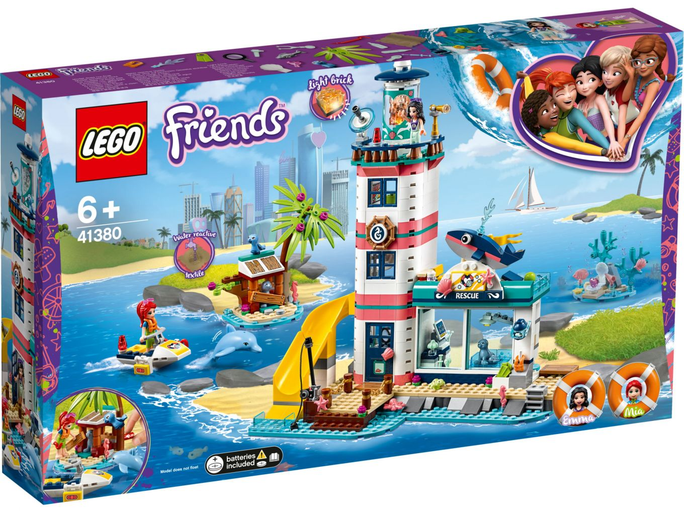LEGO Friends - 41380 Rescue Lighthouse - Box Front   The ...