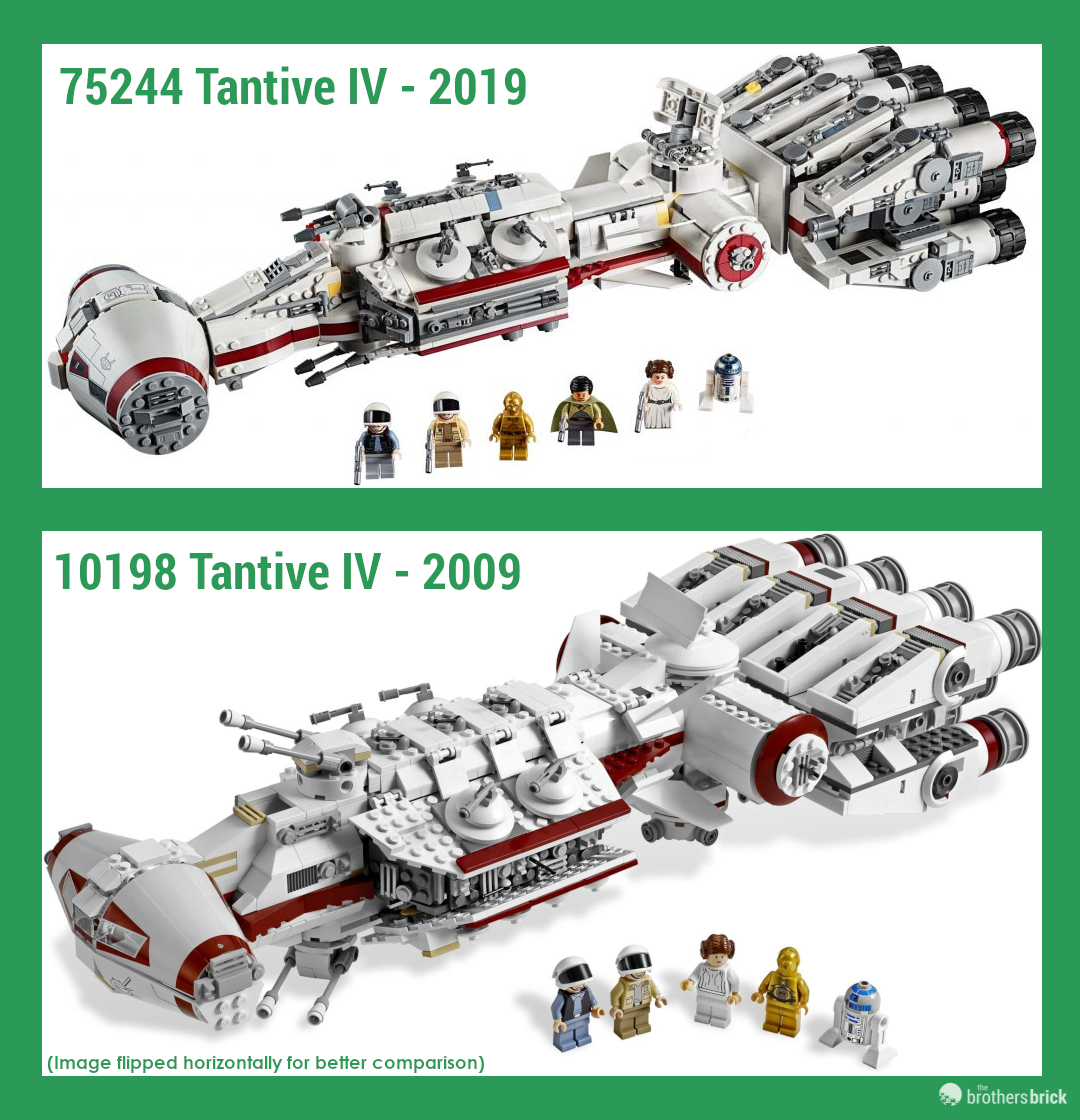 Lego Star Wars Tantive Iv Comparison 75244 To 10198 2 The Brothers Brick The Brothers Brick