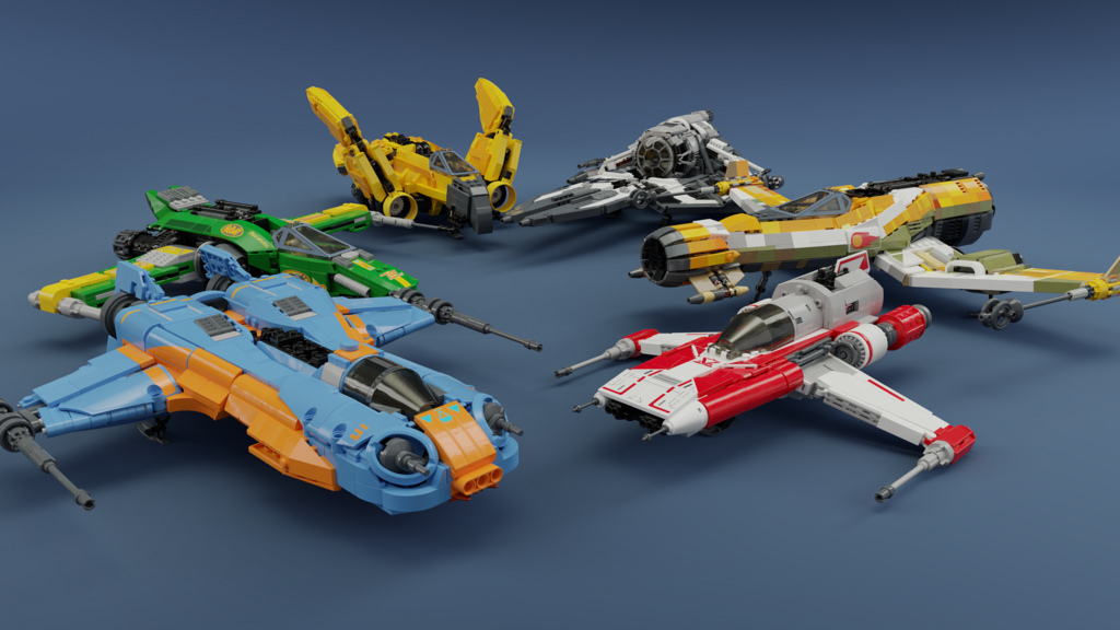 Entire Ace squadron from Star Wars: Resistance in LEGO | The Brothers Brick