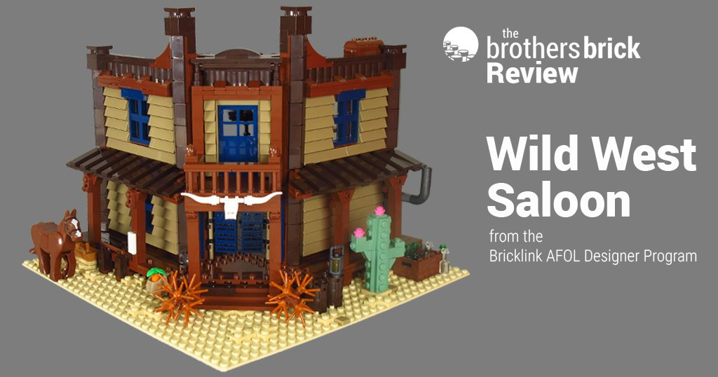 Lego Wild West Saloon Set From Bricklink S Afol Designer Program Review The Brothers Brick The Brothers Brick