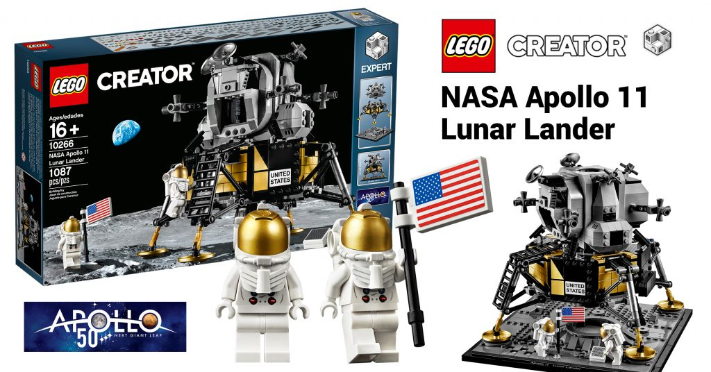 lego creator expert 10266 nasa apollo 11 lunar lander. Black Bedroom Furniture Sets. Home Design Ideas