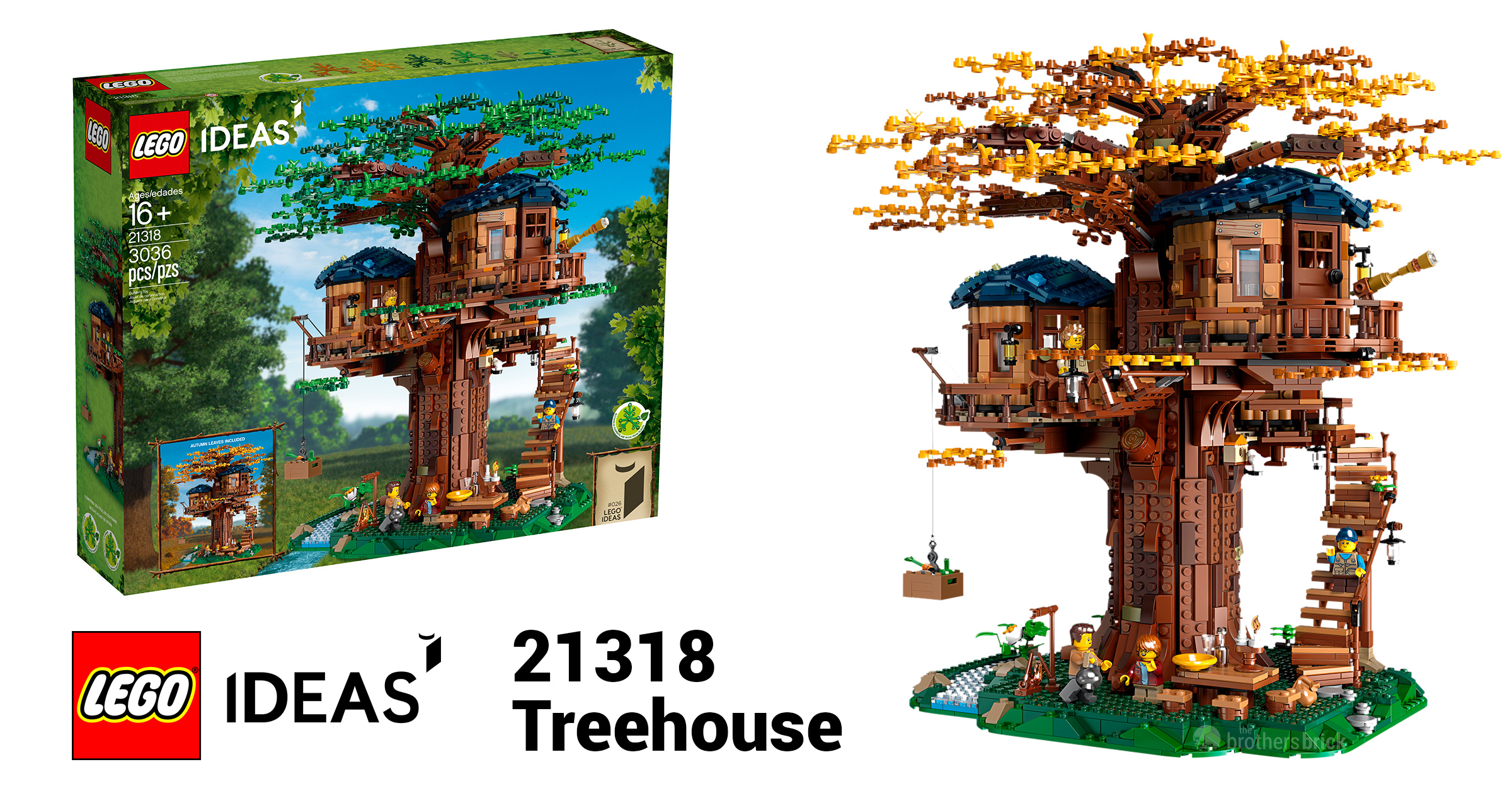 Picture of: Lego Reveals 21318 Ideas Treehouse Featuring 3 000 Pieces And Foliage For 2 Seasons News The Brothers Brick The Brothers Brick