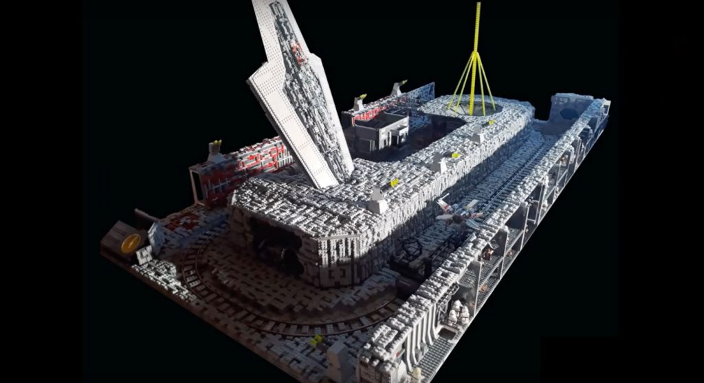 LEGO Star Wars Death Star diorama by Anthony Ducre on YouTube