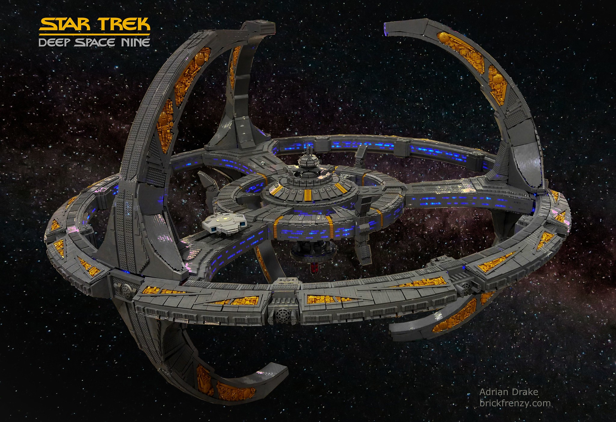This epic recreation of Deep Space Nine is so huge, I can practically fit inside!