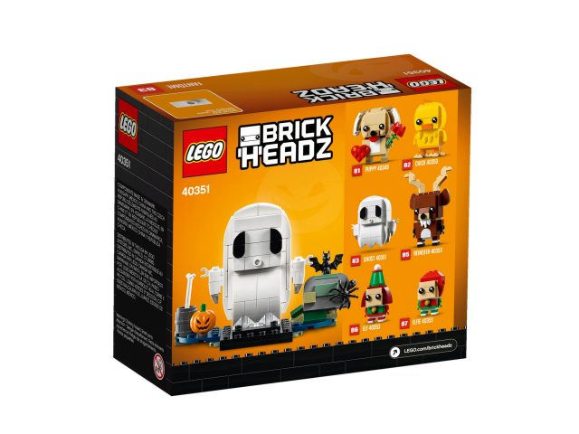 Lego Halloween Sets 2019.Lego Continues The Brickheadz Theme With 40351 Ghost This