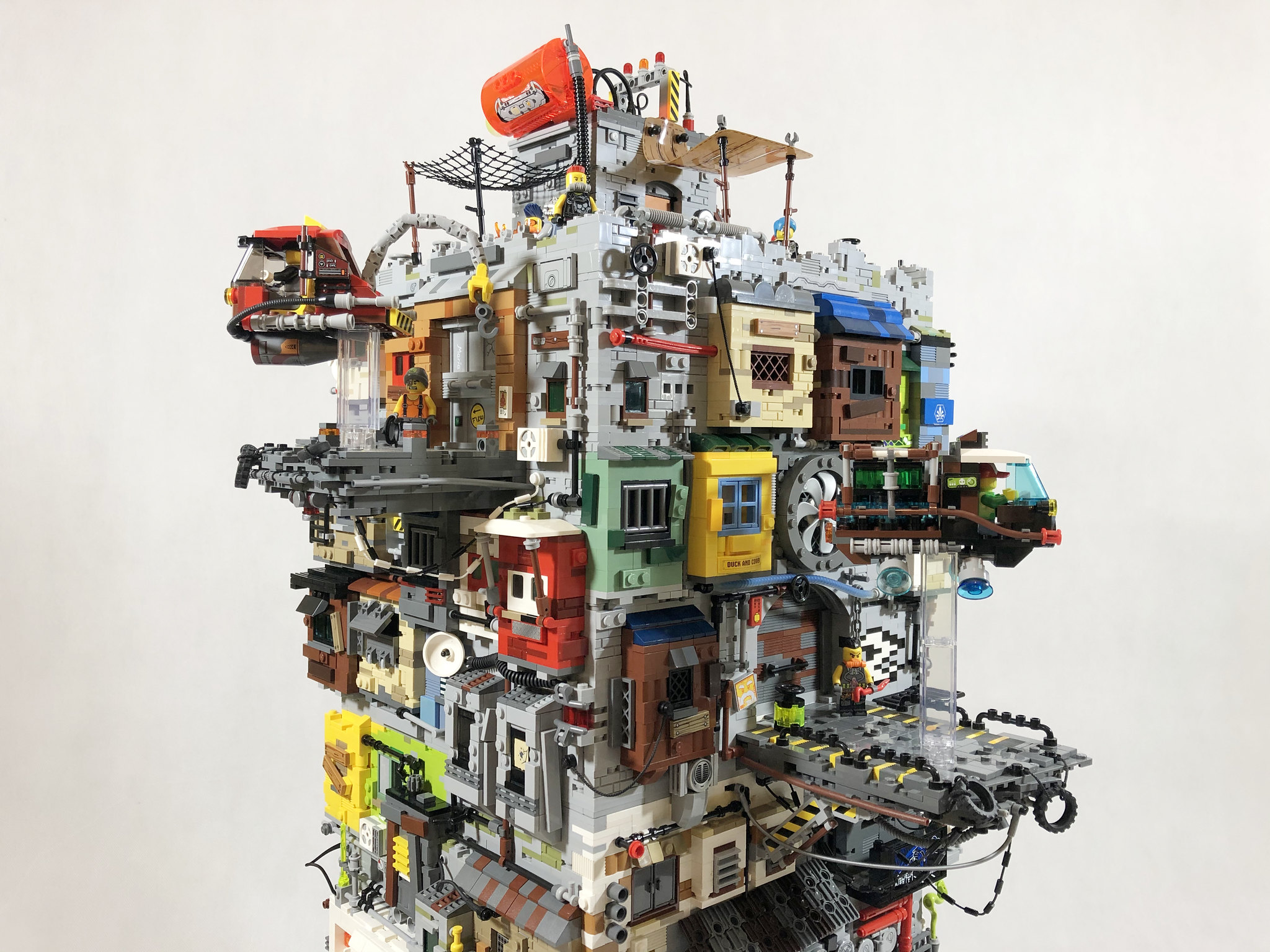 Stunning stacked city keeps going, and going, and going