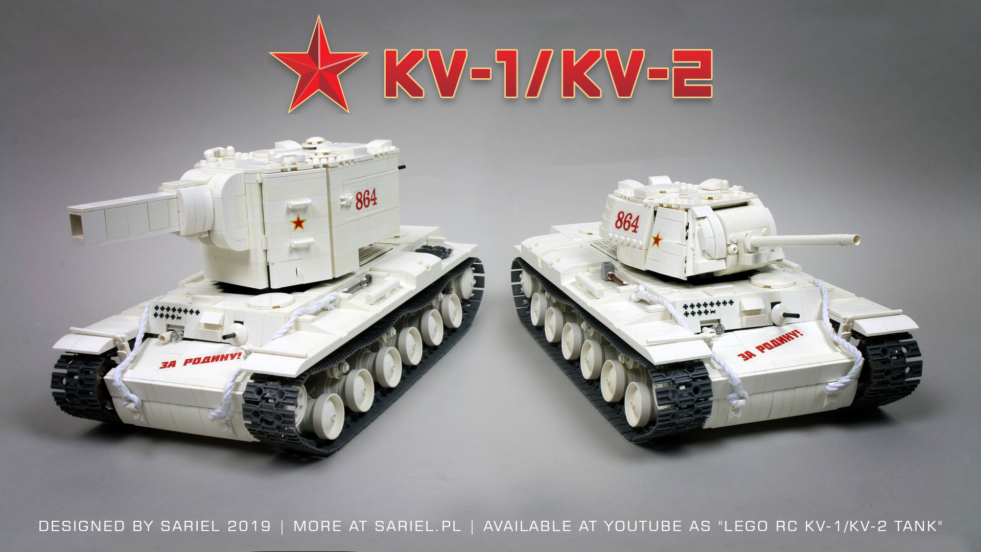 Remote-controlled Soviet KV-1 and KV-2 heavy tanks roll out in defense of the Motherland [Video]
