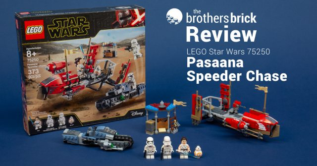 Lego Star Wars 75250 Pasaana Speeder Chase From The Rise Of Skywalker Review The Brothers Brick The Brothers Brick