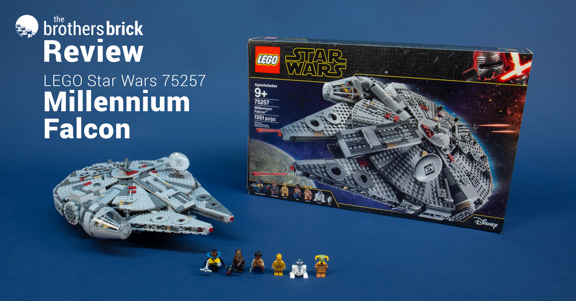 LEGO Star Wars 75257 Millennium Falcon from The Rise of Skywalker [Review]