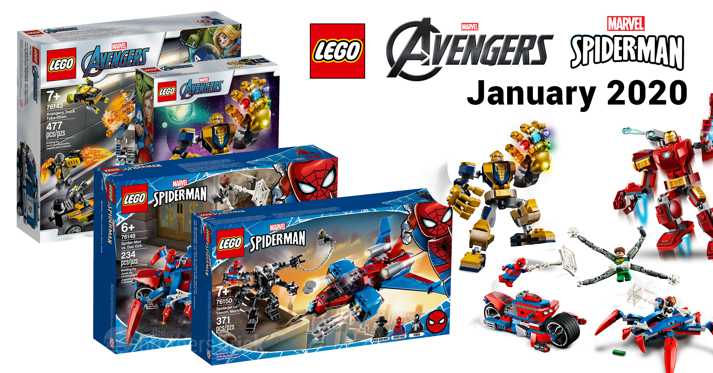 LEGO reveals 8 new Marvel sets from Avengers and Spider-Man [News]