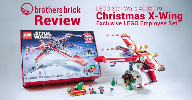 Christmas X-Wing: the Lego 2019 employee exclusive set Review | The Brothers Brick | The ...