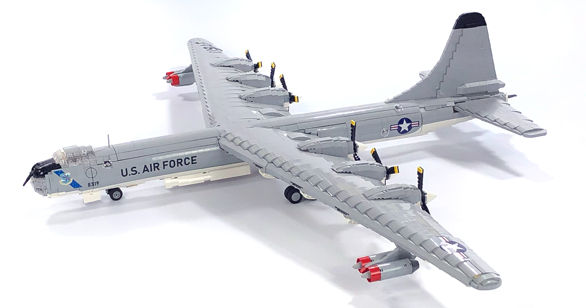 It will be hard to build a better, bigger bomber than this 6-foot LEGO B-36D