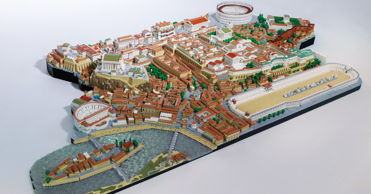 Check out this incredibly huge and detailed LEGO diorama of the Eternal City, Rome