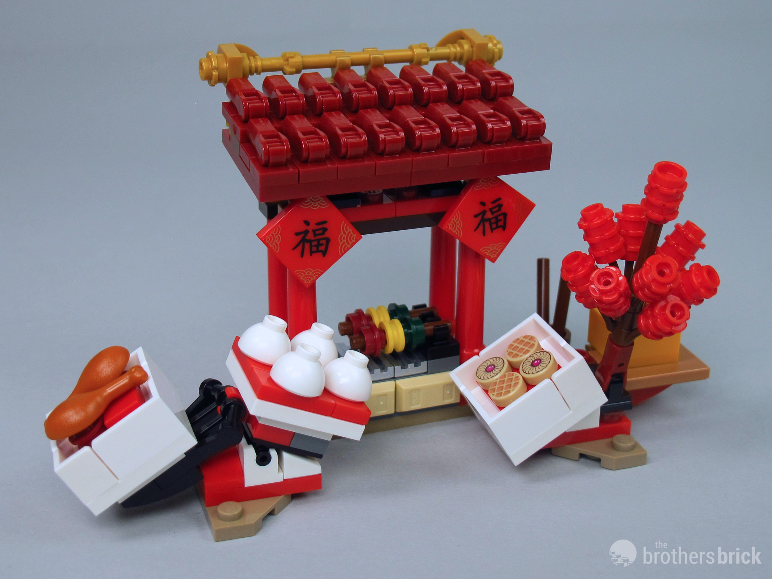 Lego 80105 Chinese New Year Temple Fair Food Stall 1 The Brothers Brick The Brothers Brick