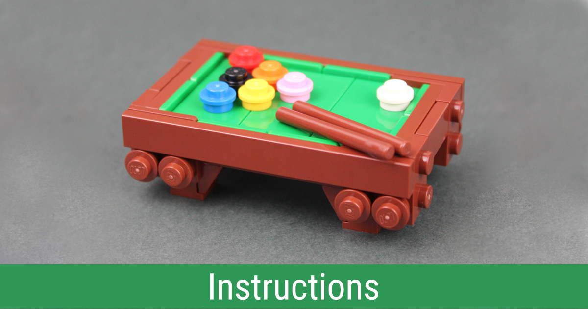 Build your own minifig-scale LEGO pool table [Intructions]