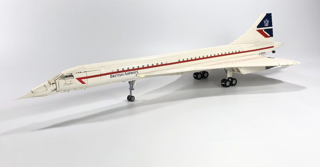 Flight of the Concorde with this beautiful 5-foot long LEGO model | The Brothers Brick