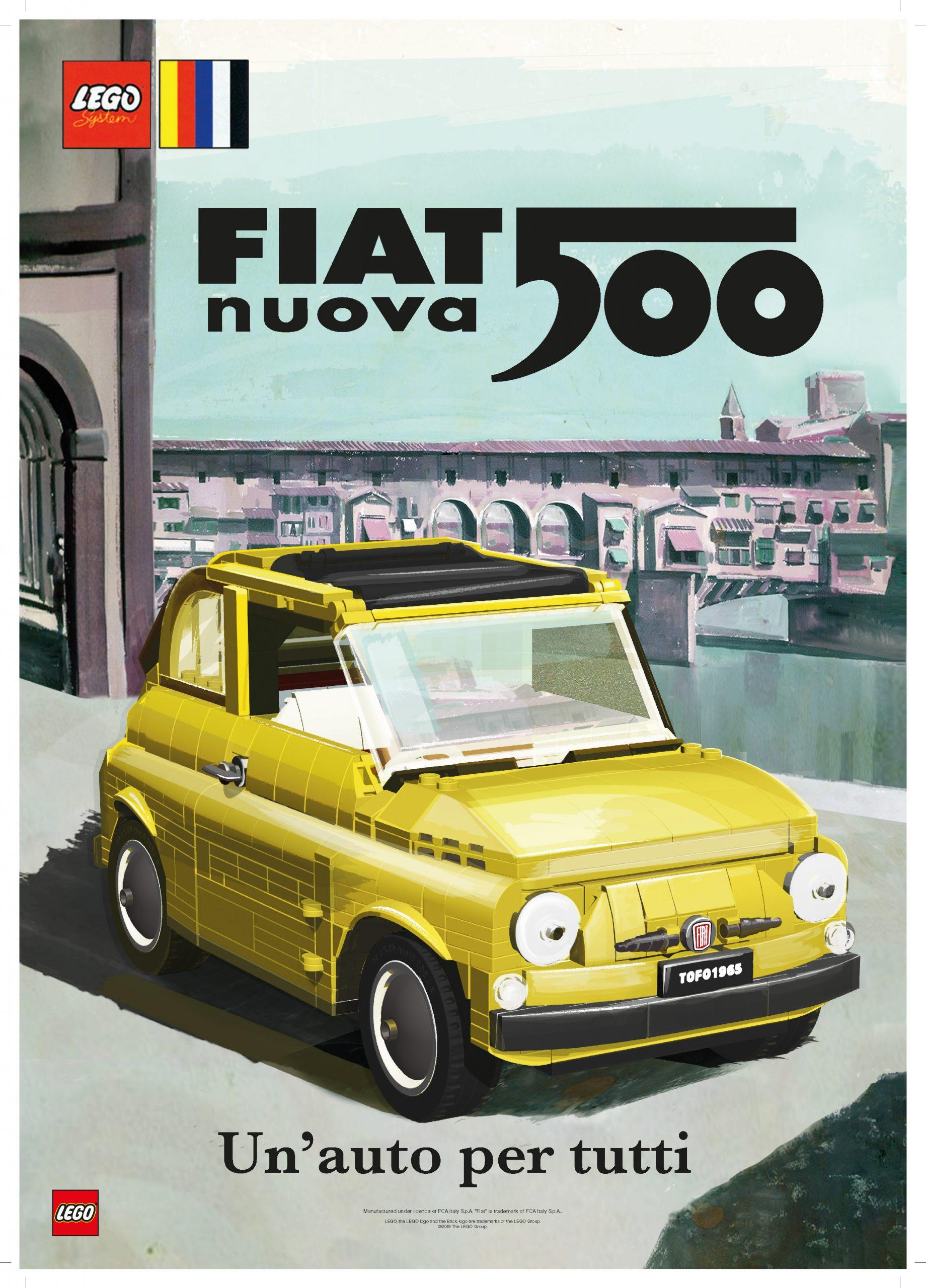 Design Per Tutti Com lego creator expert 10271 fiat 500 - vintage posters - evc1y