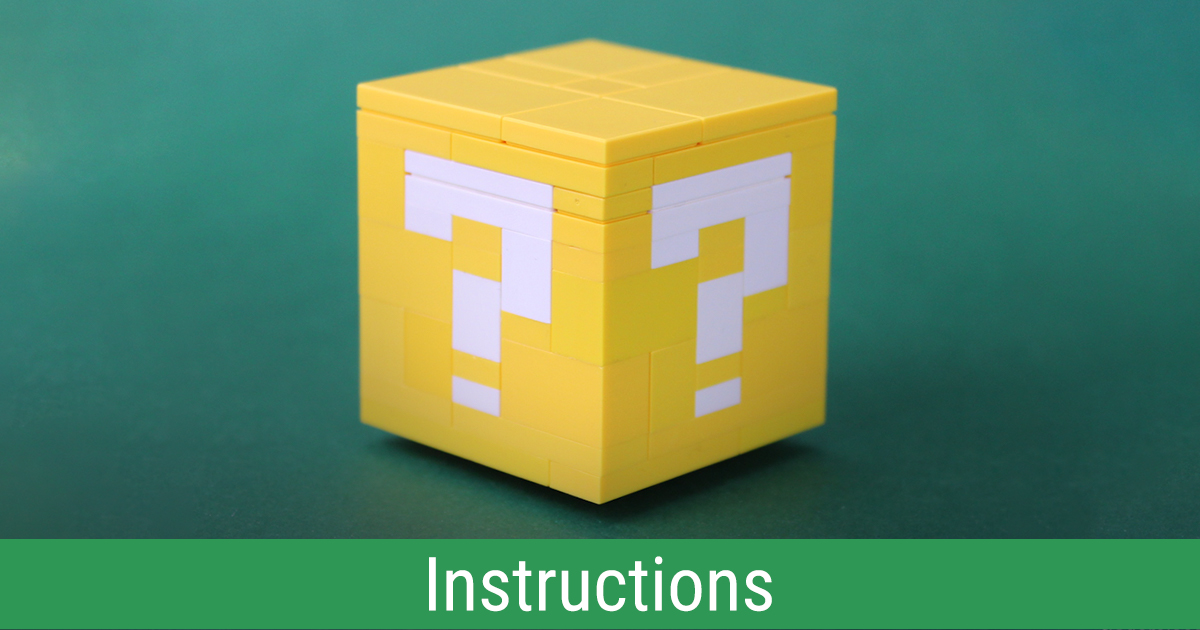 Building this Super Mario block is no mystery! [Instructions] | The Brothers Brick