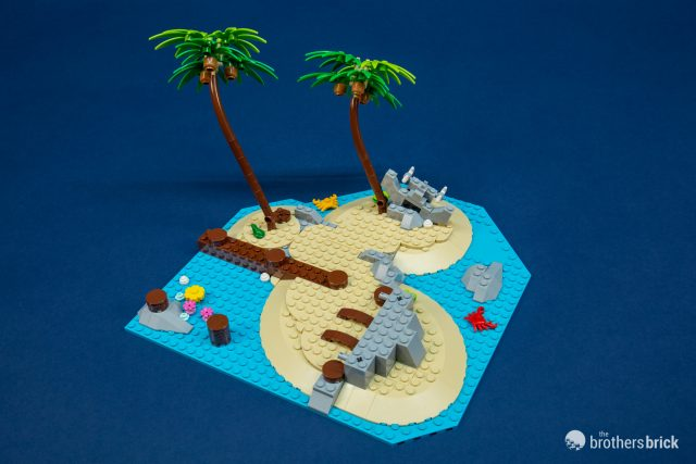 Lego Reddish Brown Tree Palm Base 4 x 4 with Trunk Plant Parts Pieces Lot of 2